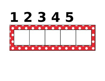 Five Frame Activity (counting 3 times)