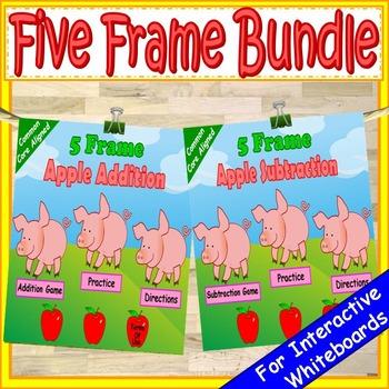 Five Frame Addition and Subtraction Kindergarten Math