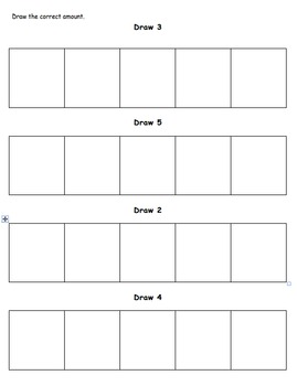 Five Frame Count and Draw Worksheet