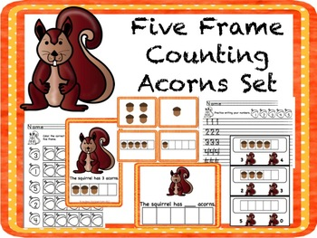 Five Frame Counting Acorns 0-5