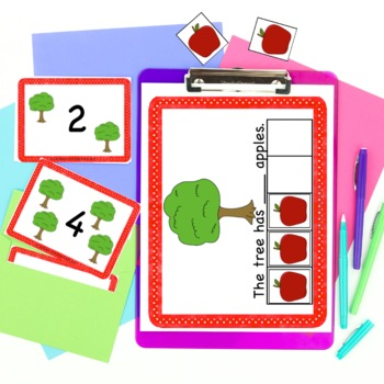 Five Frame Counting Apples 0-5