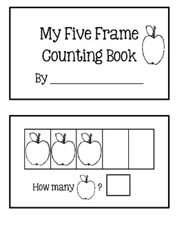 Five Frame Counting Book - Apples