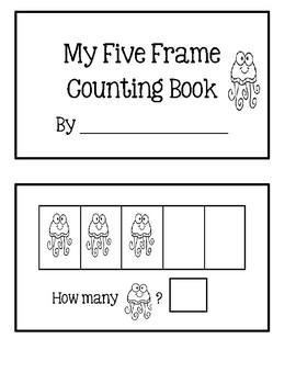 Five Frame Counting Book - Jellyfish