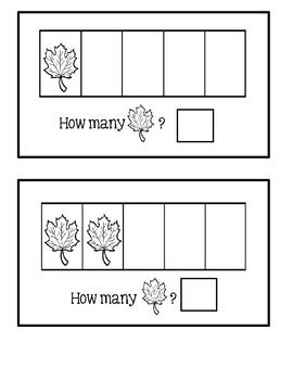 Five Frame Counting Book - Leaves