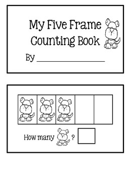 Five Frame Counting Book - Puppies