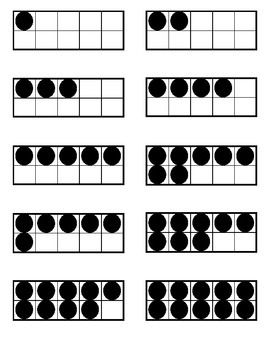 Five Frame Counting Cards