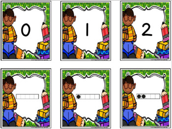 Five Frame Friends:  LOW PREP Back to School Card Game