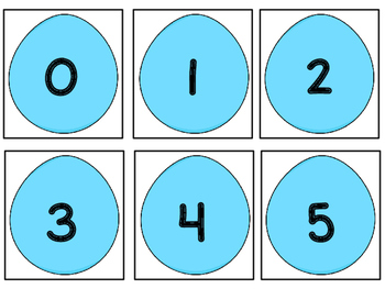 Five Frame Number Match 0-5 Math Center - Easter Themes