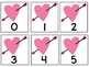 Five Frame Number Match 0-5 Math Center - Valentine's Day Themes