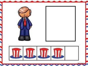 Five Frame Number Match -Presidents' Day FREE