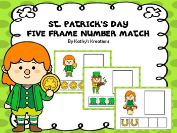 Five Frame Number Match -St. Patrick's Day