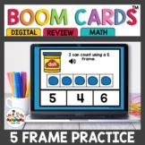 Five Frame Practice Digital Task Cards Boom