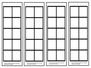 FREE Five Frame & Ten Frame Bookmarks