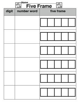 Five Frame Worksheet