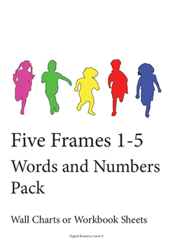 Five Frames 1-5 Words and Numbers (Pack)