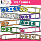Five Frame Clip Art | Math Tools for Place Value, Number Sense, & Fact Fluency