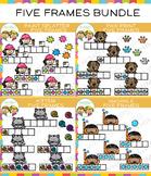 Five Frames Clip Art Bundle