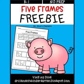 Five Frames FREEBIE (Farm Animals)
