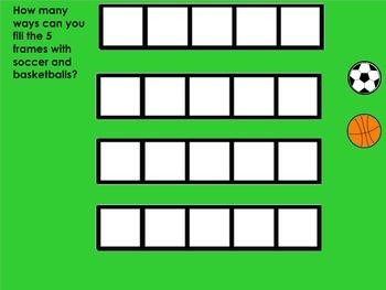 Five Frames Kindergarten Sports Theme