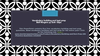 Vocabulary Building and Test Prep - Five Free Questions