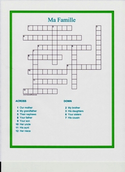 Five French Crosswords for Students