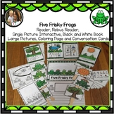 Frog Song: Five Frisky Frogs, Circle Time Song, Finger rhyme