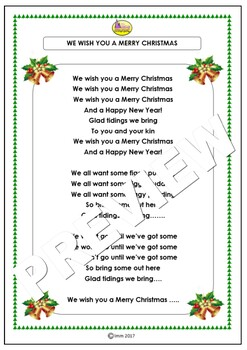 "Five Fun Christmas Songs ""We Wish You A Merry Christmas"""