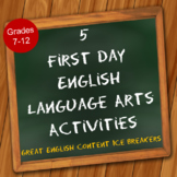 5 First Day English Language Arts Activities