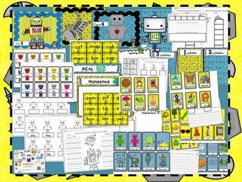 Five Fun Robot Literacy Centers