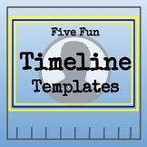 Five Fun Blank Timeline Templates