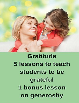 Five Grateful Lesson Plans with Bonus Generosity Lesson