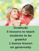 Five Grateful Lesson Plans with Bonus Generosity Lesson