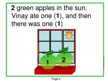 Five Green Apples