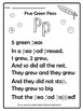 Five Green Peas - Rhyme and Activities