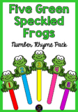 Five Green Speckled Frogs Number Rhyme & Puppets