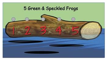 5 Green & Speckled Frogs - Vest Display - PCS