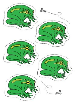Five Green and Hungry Frogs