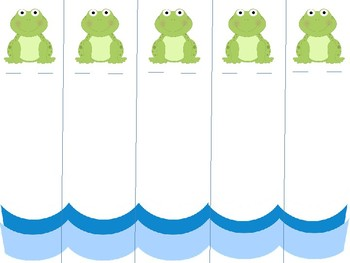 Five Green and Speckled Frog Fingerplay