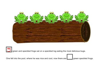 Five Green and Speckled Frogs by Mrs Breyne | Teachers Pay ...