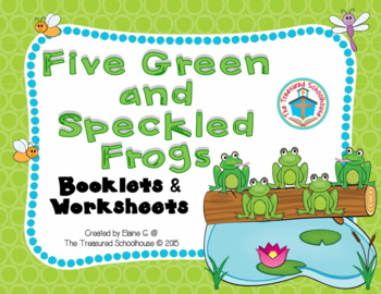 Five Green and Speckled Frogs Booklets in Color and Black & White