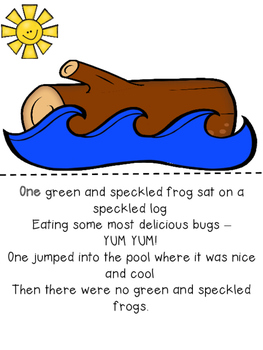 Five Green and Speckled Frogs Interactive Book and Activities