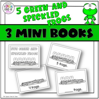 Five Green and Speckled Frogs Interactive Easy Reader Books