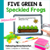 Five Green and Speckled Frogs Digital Interactive Story -