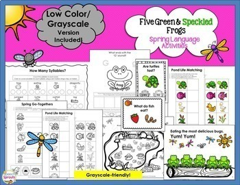 Five Green and Speckled Frogs Speech and Language Therapy Bundle