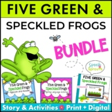Five Green and Speckled Frogs Speech and Language Bundle
