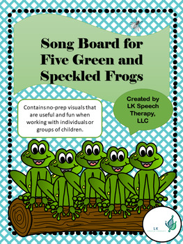 Five Green and Speckled Frogs Visual Song Board