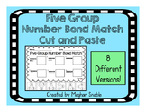 Five Group Number Bond Match- Cut and Paste- ENY Supplement