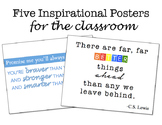 Five Inspirational Posters for the Classroom