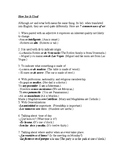 Five Key Irregular Verbs in the Present Indicative and the