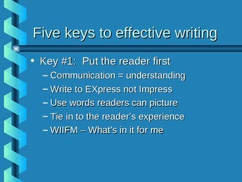 Five Keys to Effective Writing